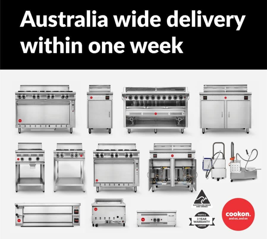 Cookon product range instock, Australia wide delivery
