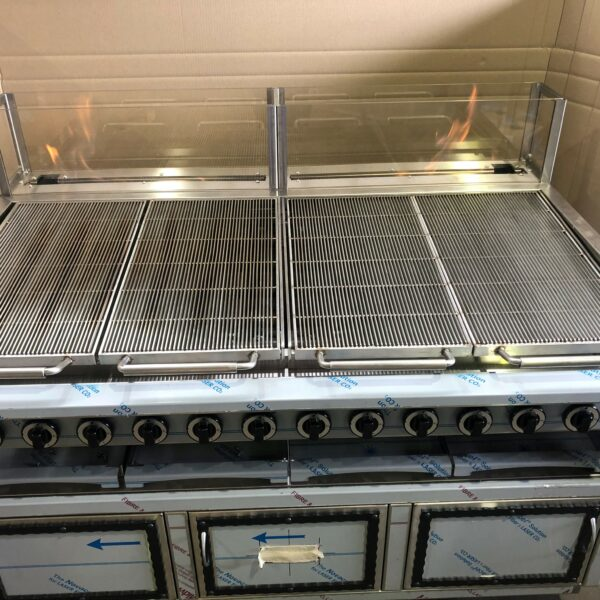 Gas fired grill